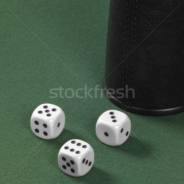 dice and cup Stock photo © prill
