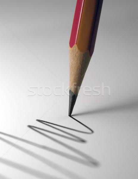 Crayon pointe détail dessin ligne lumière Photo stock © prill
