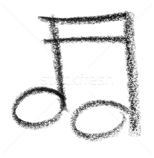 musical note sketch Stock photo © prill