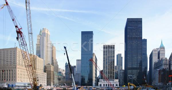 Costruzione terra pari a zero New York USA Foto d'archivio © prill