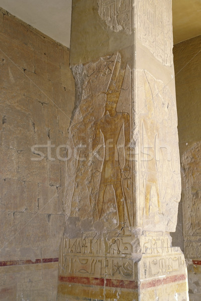 column at the Mortuary Temple of Hatshepsut Stock photo © prill