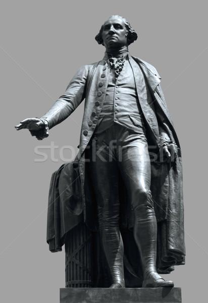 Estatua Washington federal sala Nueva York gris Foto stock © prill