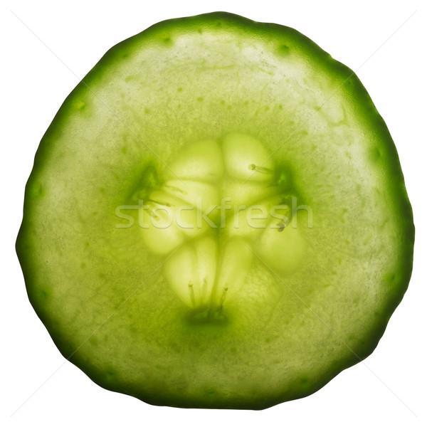 Szeletel uborka friss zöld kovászos uborka fehér Stock fotó © prill