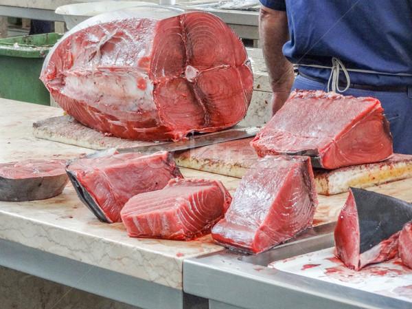 Voorbereiding markt madeira voedsel vis tabel Stockfoto © prill