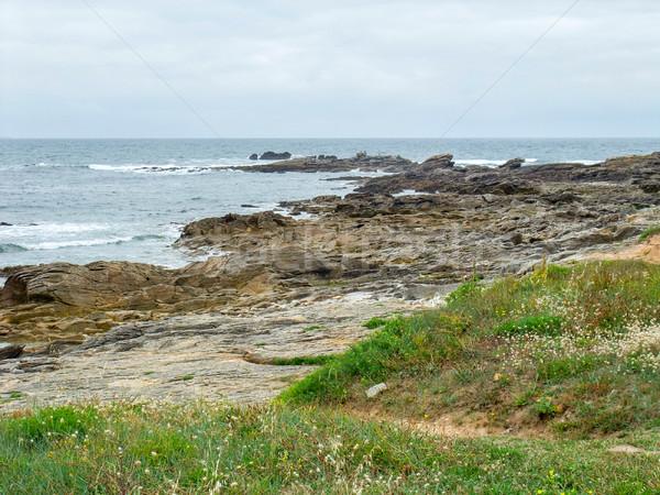 Kust landschap afdeling strand huis gebouw Stockfoto © prill
