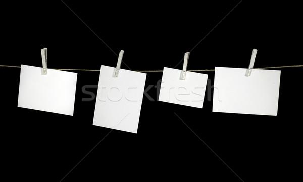 Waslijn witte vast kleding zwarte Stockfoto © prill