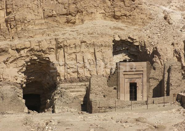 Rocha cortar templo pormenor parede África Foto stock © prill