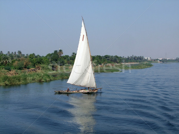 felucca on the Nile Stock photo © prill