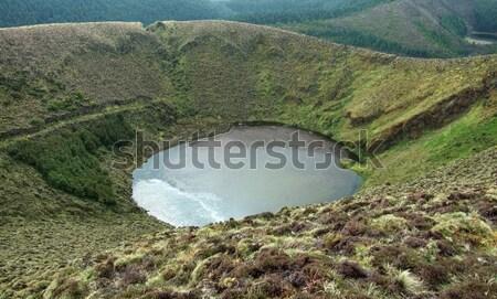 Cratera lago pequeno ilha arquipélago grupo Foto stock © prill
