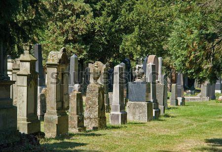 jewish graveyard in sunny ambiance Stock photo © prill