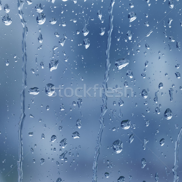 raindrops on the window Stock photo © prill