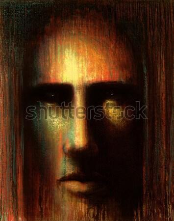 mystic face Stock photo © prill
