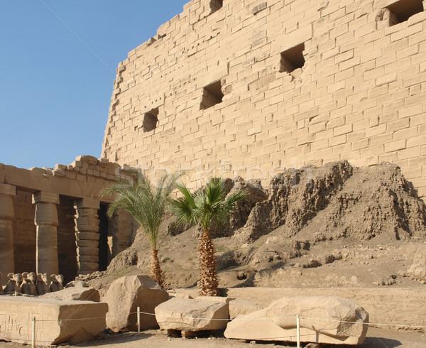 Precinct of Amun-Re in Egypt Stock photo © prill