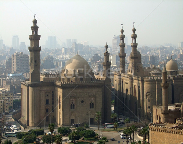 Mosques in Cairo at evening time Stock photo © prill