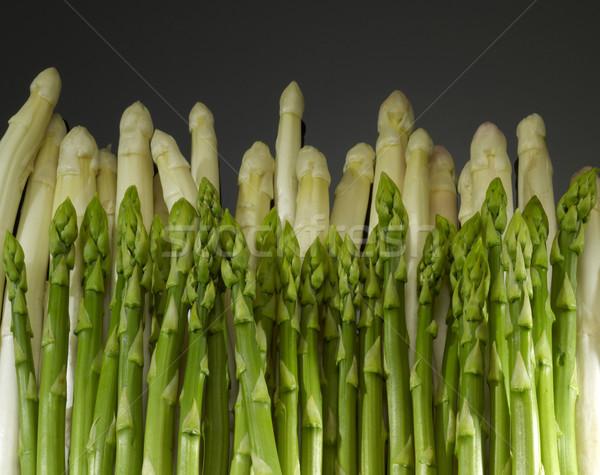 спаржа белый зеленый растительное темно назад Сток-фото © prill