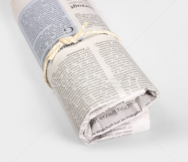 rolled newspaper Stock photo © prill