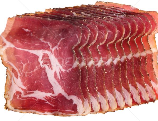 Stock photo: sliced ham