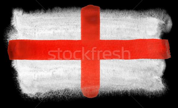 Inghilterra bandiera illustrazione acquerello sfondo arte Foto d'archivio © prill