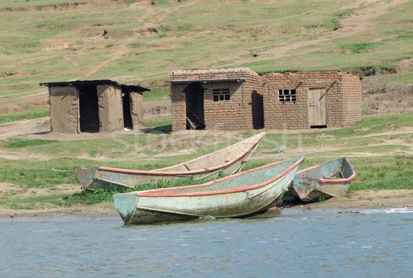 boats at the Kazinga Channel Stock photo © prill