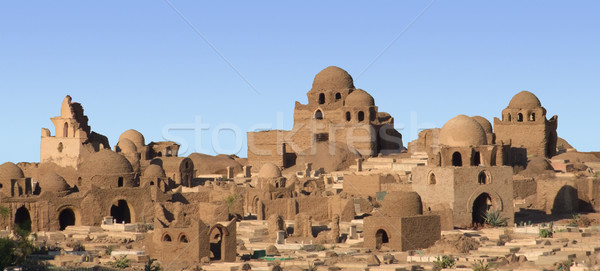 egyptian mausoleums in sunny ambiance Stock photo © prill