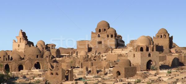 Stockfoto: Egyptische · zonnige · landschap · afrika · architectuur · geschiedenis