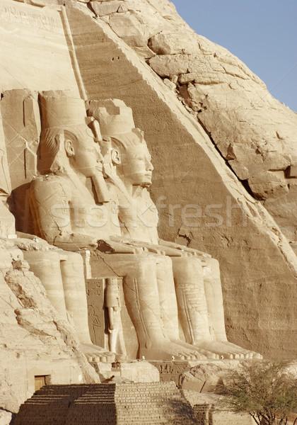 stone sculptures at the Abu Simbel temples Stock photo © prill