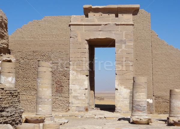 Foto stock: Ruínas · arqueológico · oásis · Egito · construção