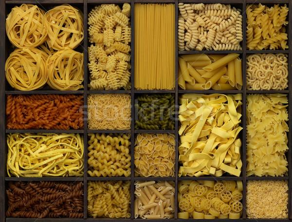 ストックフォト: 麺 · 木製 · ボックス · 小麦 · 中国語