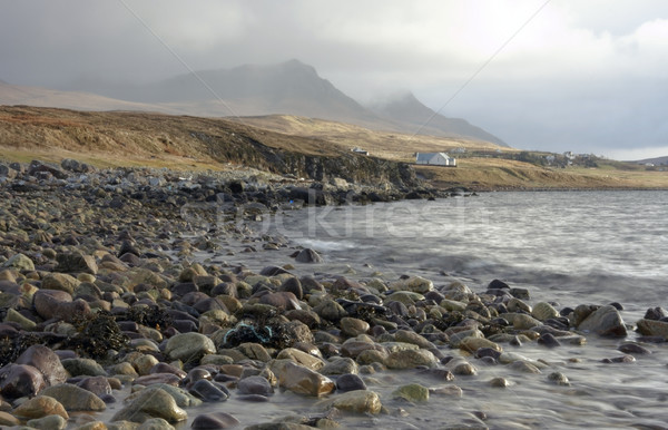 seaside in Scotland with dramatic sky Stock photo © prill
