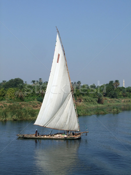Nile scenery with felucca Stock photo © prill