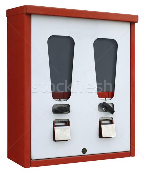 Vermelho branco máquina de venda automática ângulo tiro nostálgico Foto stock © prill