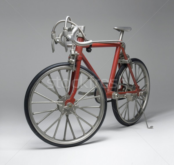 model of a red framed bicycle Stock photo © prill