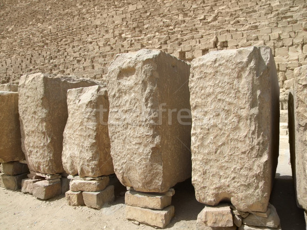 Pyramid of Cheops and stones Stock photo © prill
