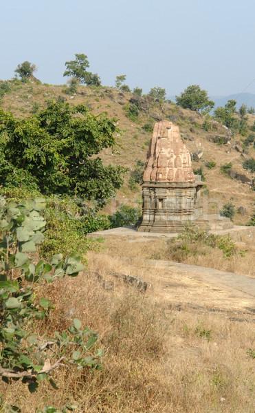 Em torno de alcance cenário Índia velho pedra Foto stock © prill