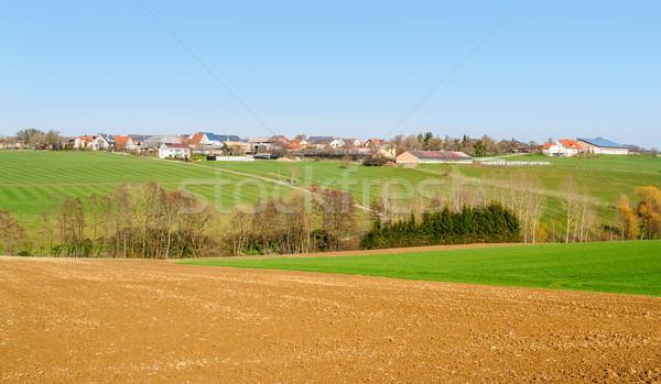 rural village in Hohenlohe Stock photo © prill