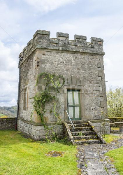 Idilli kicsi torony történelmi kő napos Stock fotó © prill