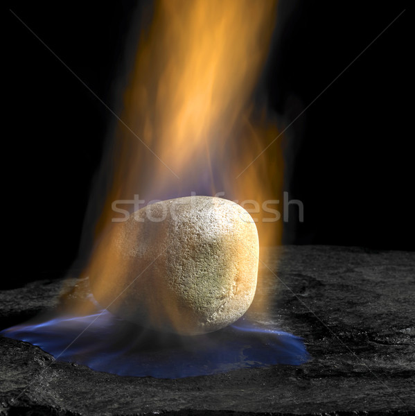 burning stone Stock photo © prill