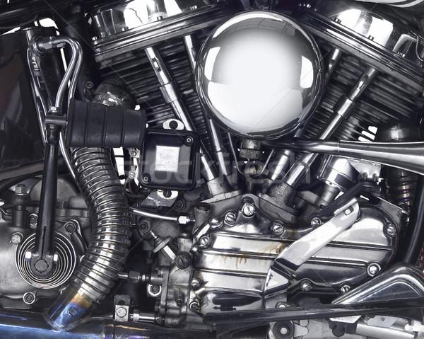 Motor motocicleta pormenor tiro poder Foto stock © prill