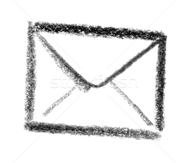 Mail icon illustratie envelop verf teken Stockfoto © prill
