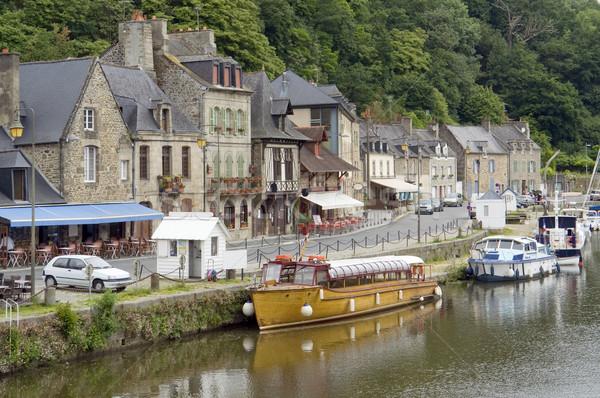 Portu idylliczny dekoracje miasta Francja rzeki Zdjęcia stock © prill
