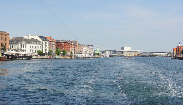 waterside scenery in Copenhagen Stock photo © prill