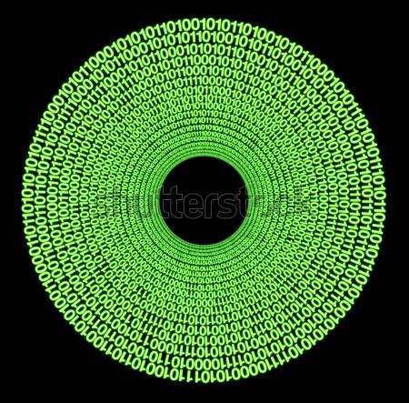 Binário simbólico disco código binário preto Foto stock © prill