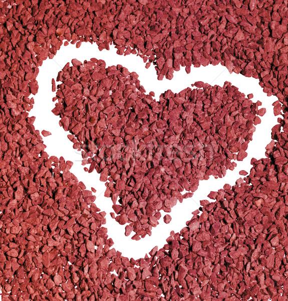 gravel heart shape Stock photo © prill