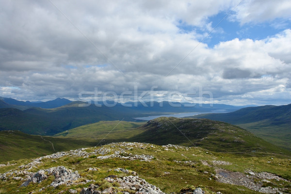 panoramic view over Buachaille Etive Mor Stock photo © prill