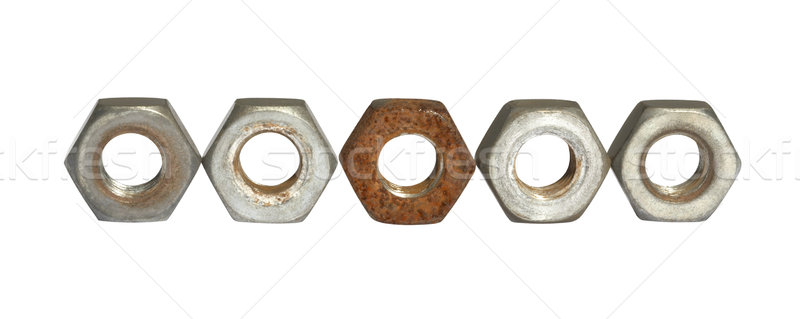 old screw nuts Stock photo © prill