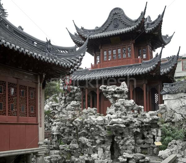 Сток-фото: саду · Шанхай · подробность · исторический · год