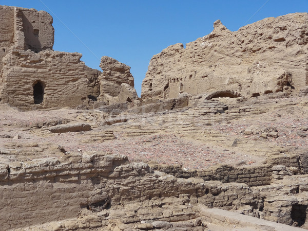Ruines archeologische plaats oase Egypte bouw Stockfoto © prill