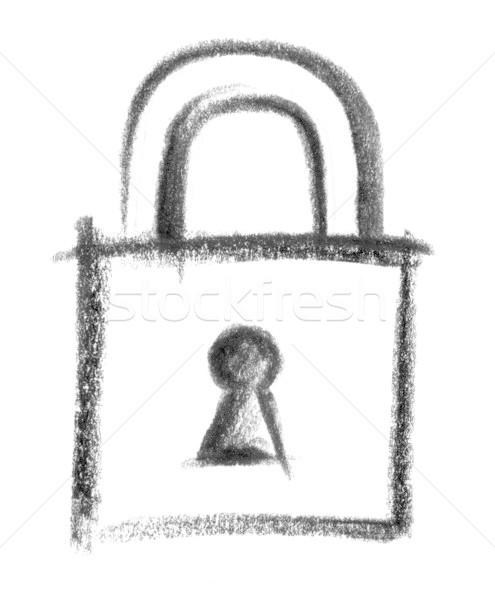 padlock icon Stock photo © prill