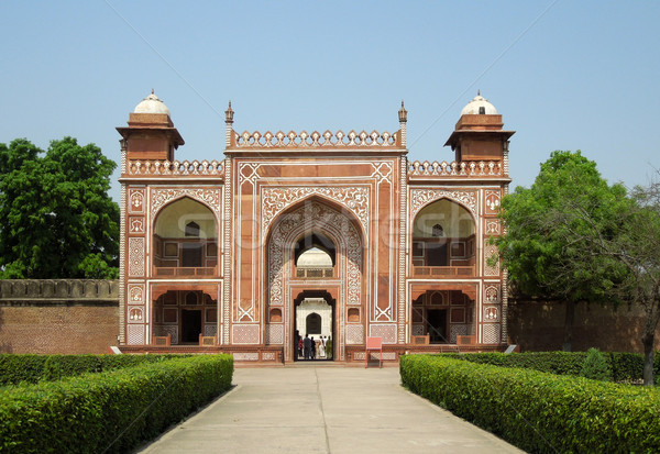 gate at the Tomb of Itimad-ud-Daulah Stock photo © prill