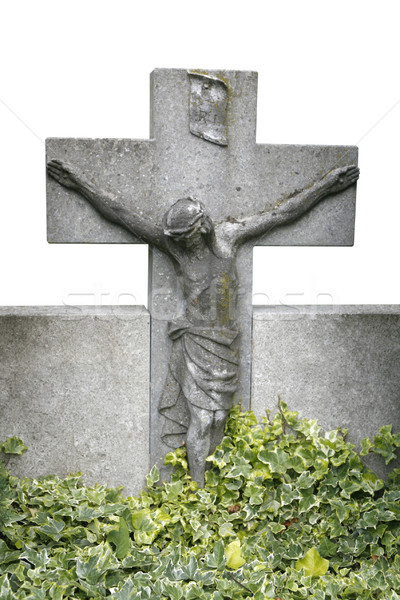 gravestone with christ Stock photo © prill